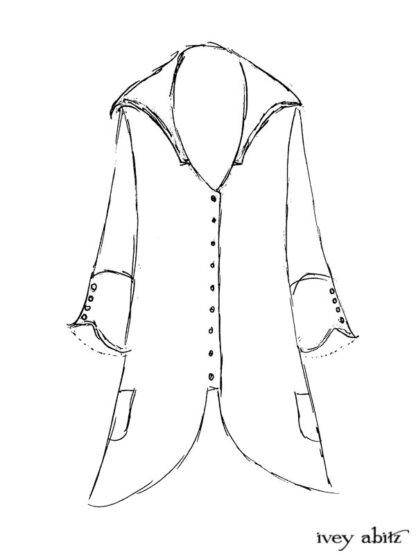 Henrietta Duster Coat Drawing by Ivey Abitz