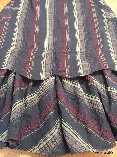 Ivey Abitz Heraldry Frock in Royal Textured Striped Weave