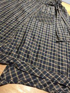 Ivey Abitz Highlands Skirt in Onyx Copper Plaid Silk Taffeta