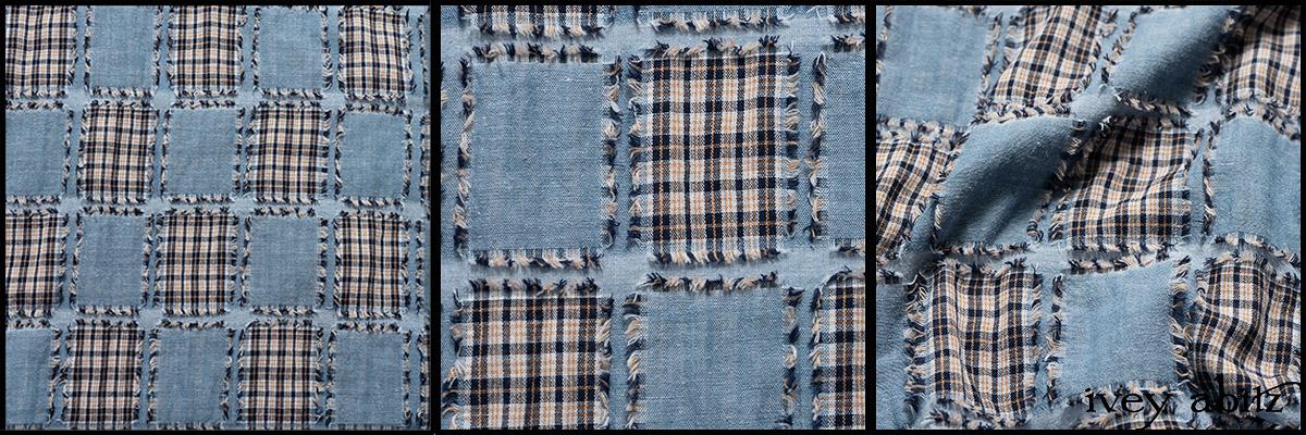 Hudson Blue Patch Plaid Voile - Collection 63 - 2020