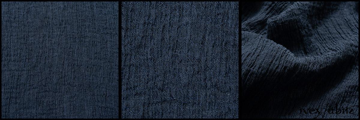 Hudson Blue Washed Crinkled Linen - Collection 63 - 2020