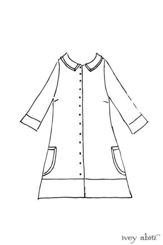 Hudson Duster Coat drawing by Ivey Abitz