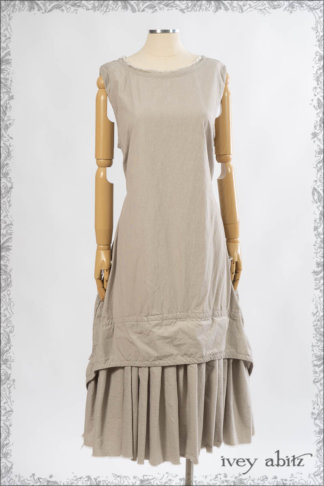 IA101 Limited Edition Blanchefleur Frock in Passport Pinstripe Weave