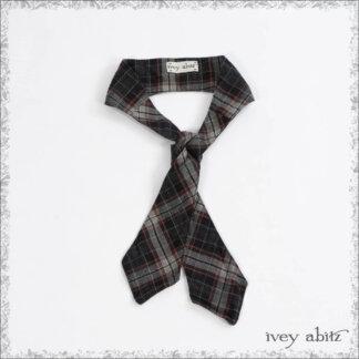 IA101 Sophia Necktie in Black and Cordelia Rose Plaid Cotton by Ivey Abitz