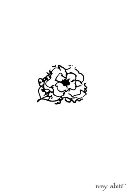 Idyll Brooch drawing by Ivey Abitz