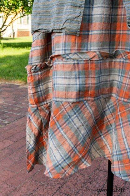 Hudson Duster Coat in Herb Garden Petite Stripe Linen; Hudson Frock in Sunny Seaside Plaid Linen; Cilla Slip Frock in Herb Garden Soft Ribbed Knit. Ivey Abitz at Boscobel House and Gardens
