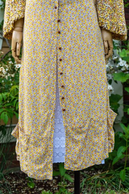 Wilhemena Jacket in Yellow Days Soft Floral Knit; Porte Cochere Frock in Yellow Days Floral Weave; Limited Edition Cilla Slip Frock in Shipsail Embroidered Voile. Ivey Abitz at Boscobel House and Gardens
