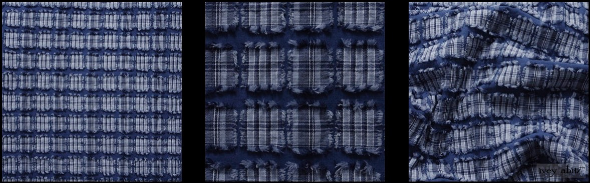 Lake Tufted Plaid Voile