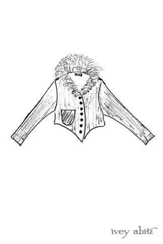 Limited Edition Coulson Cardigan drawing by Ivey Abitz