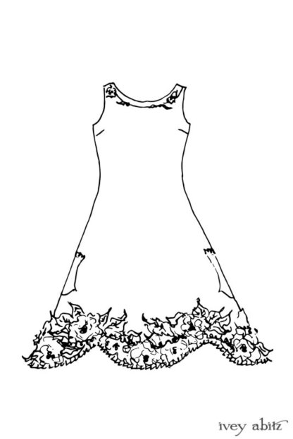 Limited Edition Idyll Frock drawing by Ivey Abitz