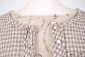 Glenclyffe Jacket in Stone Cottage Petite Checked Knit; Glenclyffe Skirt in Stone Cottage Embroidered Gauze; Pierrepont Breeches/Leggings in Stone Cottage Ponte Knit. Look 49 - Spring 2018 Ivey Abitz Bespoke