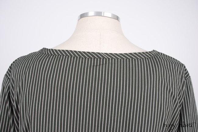 Chomley Dress in Gable Green Striped Cotton; Cilla Camisole in Chimney Lightweight Linen Knit; Pierrepont Breeches-Leggings in Chimney Ponte Knit. Look 50 - Spring 2018 Ivey Abitz Bespoke