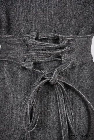 Look 8 - Spring 2018 Ivey Abitz Bespoke - Heraldry Duster Coat in Front Gate Wainscot Weave; Crest Frock in Red Door Stained Glass Voile; Heraldry Frock in Red Door Wispy Plaid Voile, High Water Length.
