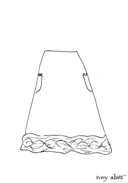Mewland Skirt Drawing by Ivey Abitz