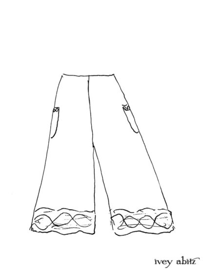 Mewland Trousers Drawing by Ivey Abitz