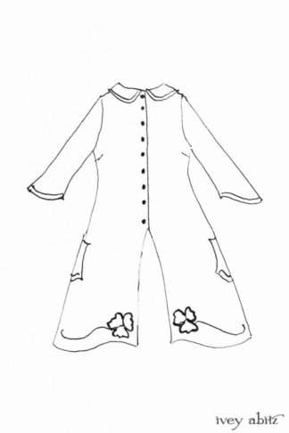 Monceau Duster Coat drawing by Ivey Abitz