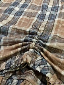 Montmorency Frock in eternal spring plaid linen by Ivey Abitz