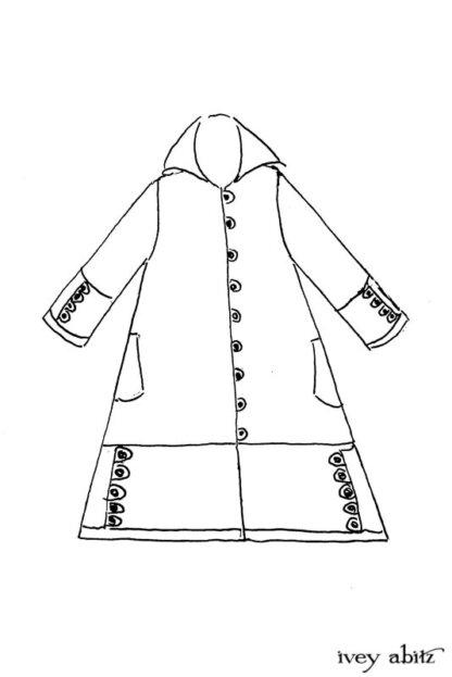 Pierrepont Duster Coat Drawing by Ivey Abitz