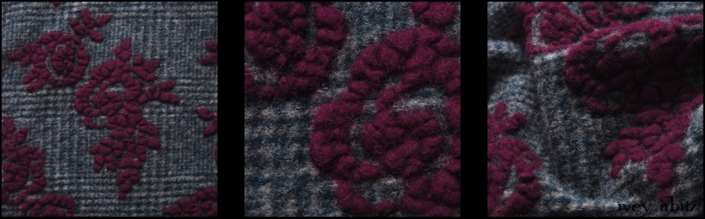Plaid Floral Boiled Wool