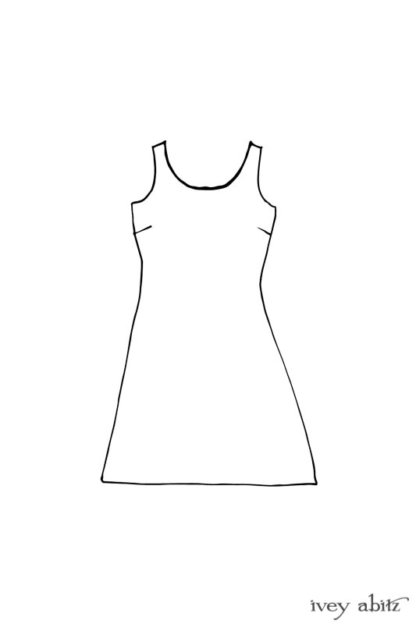 River Frock drawing by Ivey Abitz