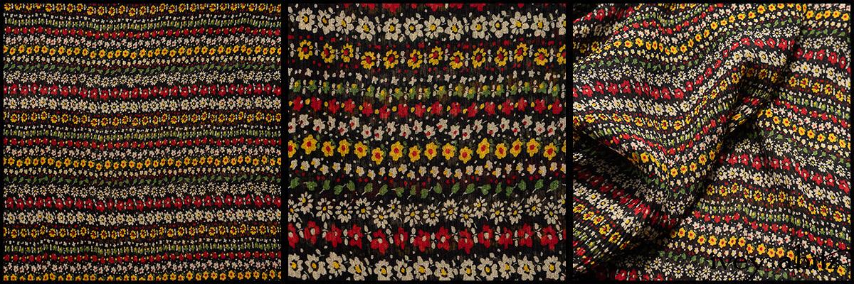 Rose Garden Row Silk Chiffon - Collection 63 - 2020