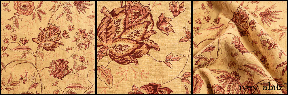 Rosy Washed Floral Linen