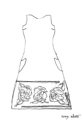 Saint Ans Frock Drawing by Ivey Abitz