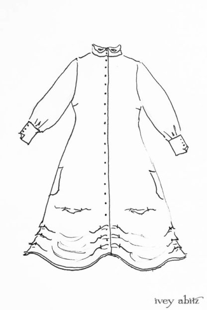 Scattergood Duster Coat drawing by Ivey Abitz