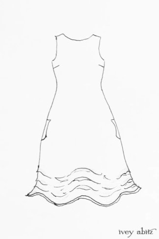 Scattergood Frock drawing by Ivey Abitz