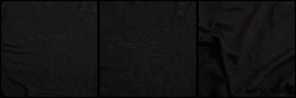 Signature Black Lightweight Linen Knit
