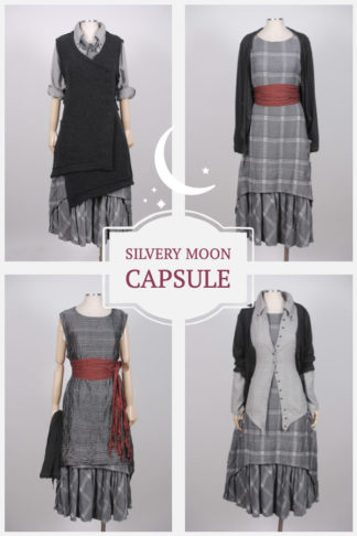Silvery Moon Capsule gives you multiple looks with interchangeable garments based on the Blanchefleur Frock.