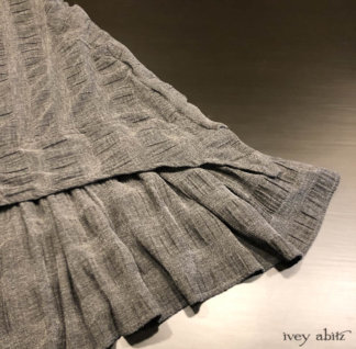 Blanchefleur Frock in Tintype Puckered Stripe Weave