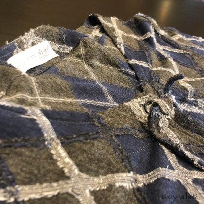 Chevallier Cardigan in Fresh Water Rustic Argyle Knit