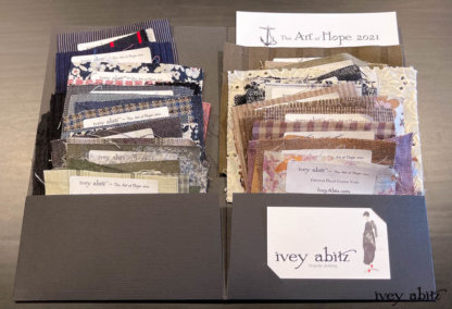 The Art of Hope 2021 Fabric Book for the Ivey Abitz bespoke clothing collection.