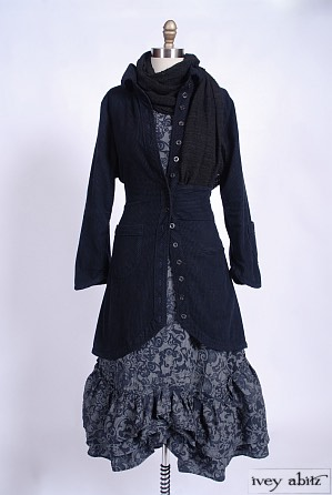 Anabel Frock in Paisley Checked Cotton - Size Medium