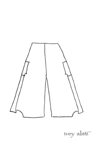 Vanetten Trousers drawing by Ivey Abitz