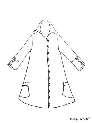 Viv Coat Dress Drawing by Ivey Abitz