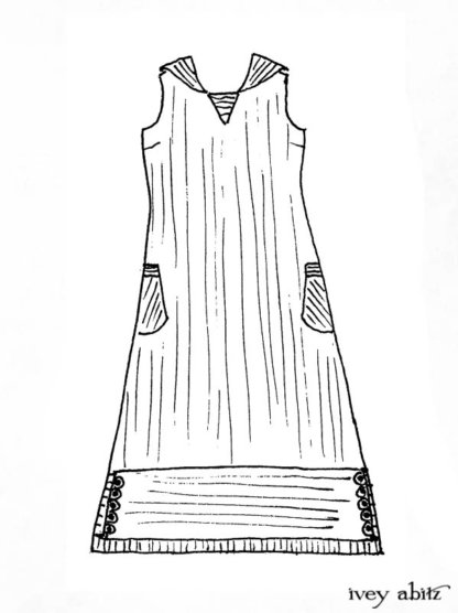 Viv Frock Drawing by Ivey Abitz