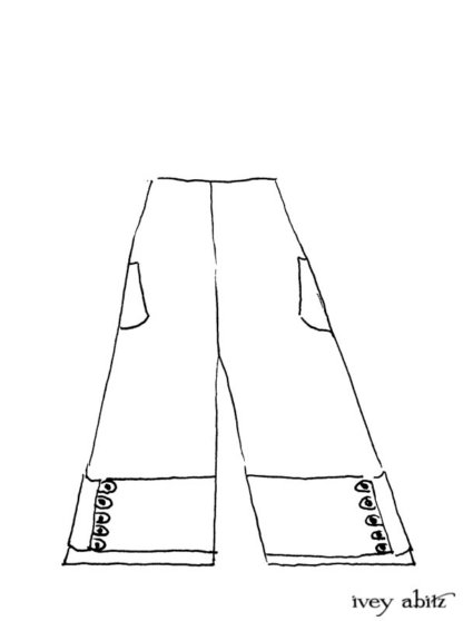 Viv Trousers Drawing by Ivey Abitz