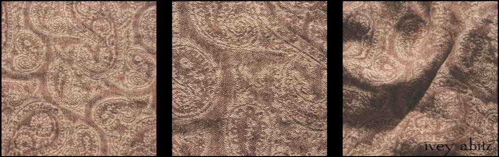 Description: A glorious yarn dyed dance of movement within this lovely design. Look closely, and you'll see petite paisley designs woven right into the weave. A mix of Antique Parchment and a lighter version of our First Edition (Brown) hues. Ideal for a vest or shorter layering jacket to add a bit of texture and visual delight amidst everyday solid hued weaves. Content: 100 percent linen. Four season weave.Care: Simply hand wash or put through machine delicate cycle in cold water with a plant based detergent. We suggest using an natural fabric softener to maintain the softness we have washed into it. Tumble dry on extra-low heat with our artisan wool dryer balls to keep the relaxed effect that is featured in the Look Book. An Ivey Abitz fabric.