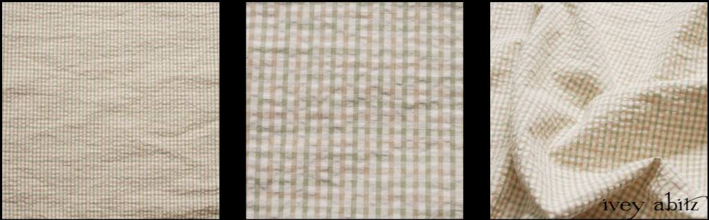 Beach Grass Puckered Checked Cotton by Ivey Abitz