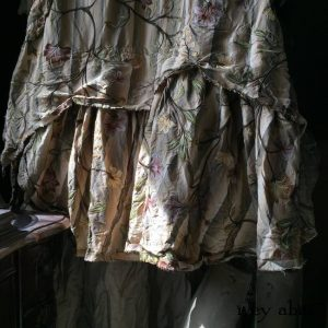 Ardsleydale Frock in Original Plaster Embroidered Washed Silk by Ivey Abitz