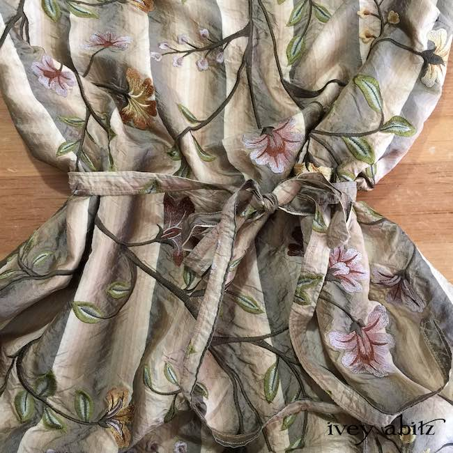 Celia Frock in Original Plaster Embroidered Washed Silk by Ivey Abitz
