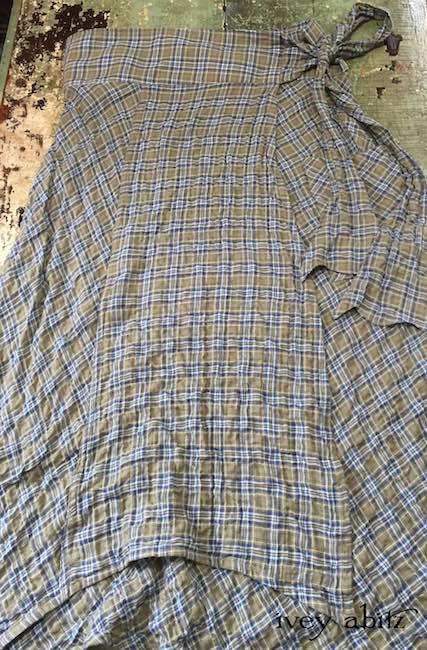 Highlands Skirt in Veranda Blue Lawn Wispy Plaid by Ivey Abitz