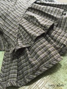 Everett Frock in Gable Green Plaid Cotton by Ivey Abitz