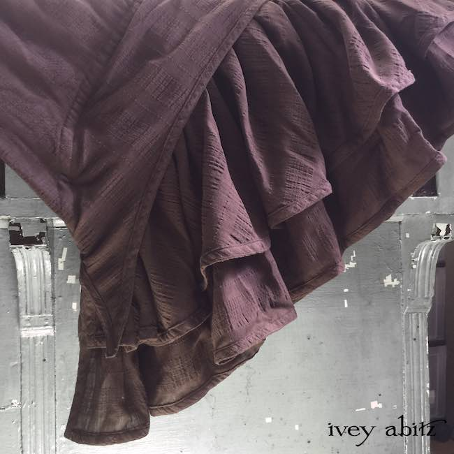 Everett Frock in Brick Wispy Plaid Voile by Ivey Abitz