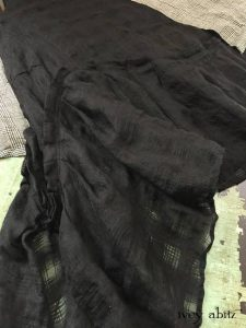 Fairholme Frock in Chimney Open Weave Plaid Linen with Highlands Frock in Chimney Glen Plaid Washed Linen by Ivey Abitz