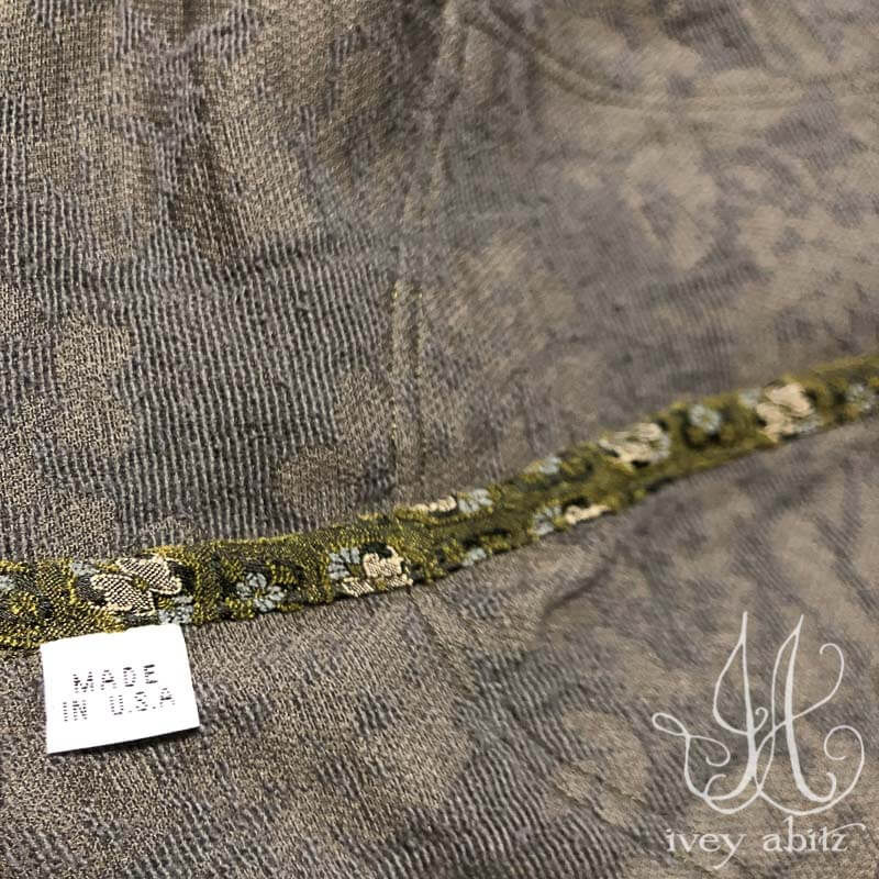 Exquisite interior seam detail inside one of the Chevallier Duster Coats just finished for a client. Our garments look as lovely inside as they do on the outside. We care about the details that are next to your skin each and every day.