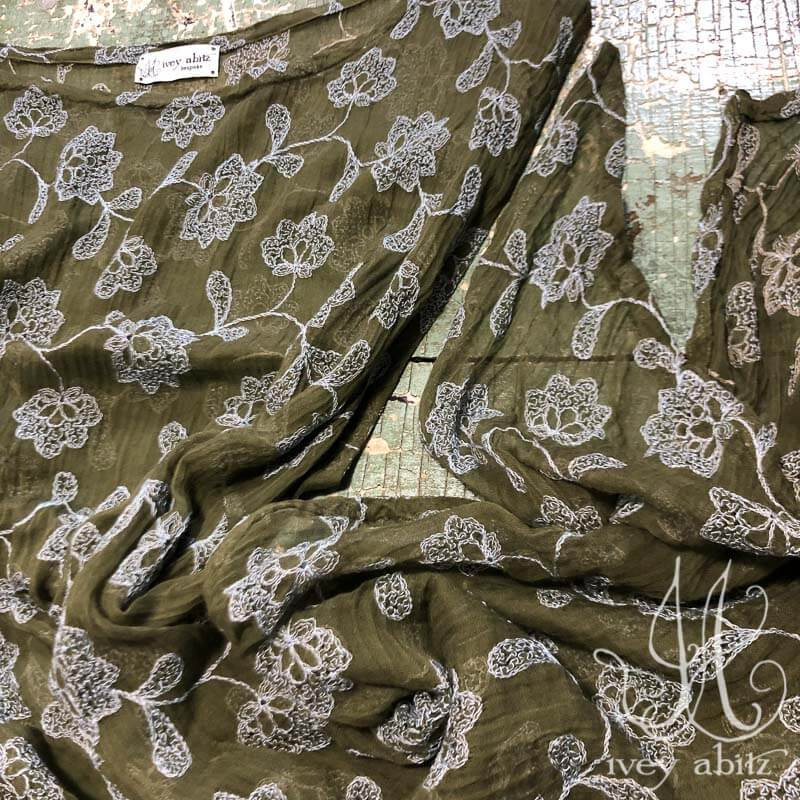 Wildefield Frock in Flora Embroidered Gauze