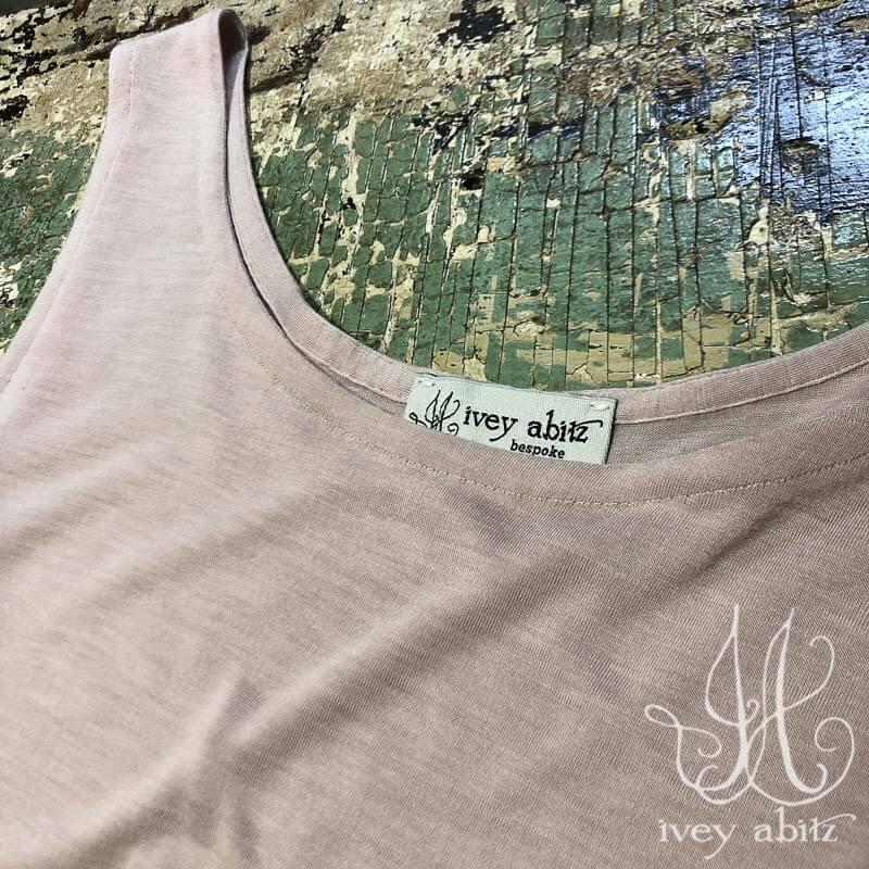Cilla Slip Frock in Rose Silk Knit